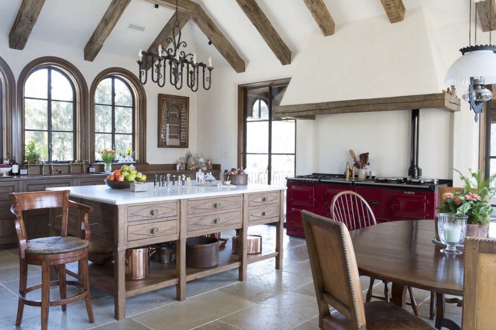 kitchen design red range