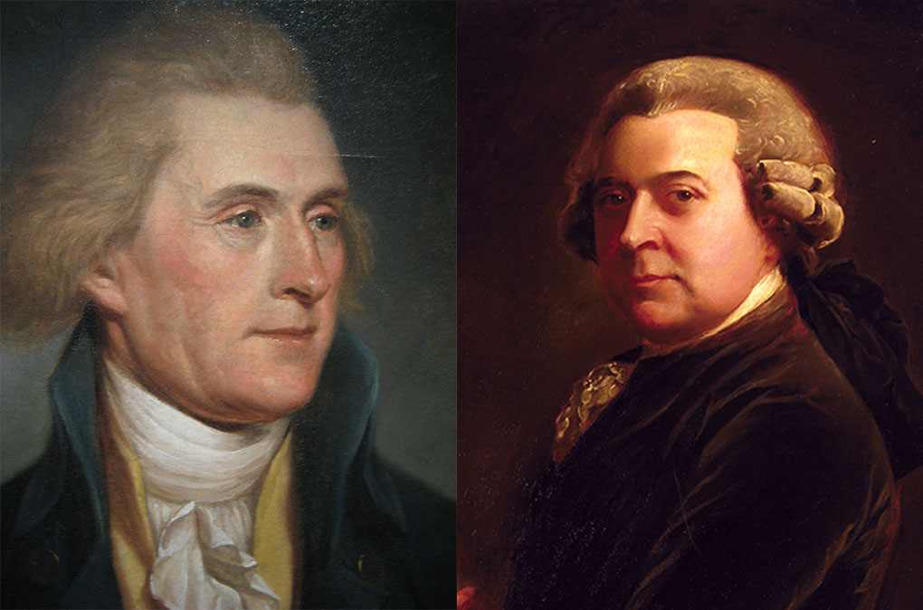 john adams and thomas jefferson John adams and thomas jefferson are perhaps america's most famous pair of feuding friends their storied relationship ended abruptly on july 4, 1826, when they both died within hours of each other.