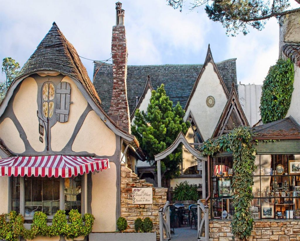 Fairytale cottages in carmel by the sea sarah blank for Cottage style architecture