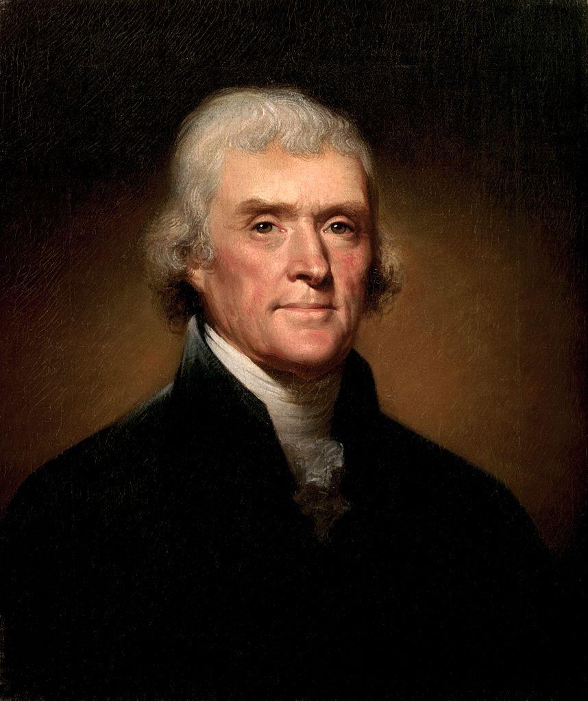 Thomas Jefferson by Rembrandt Peale (1800)
