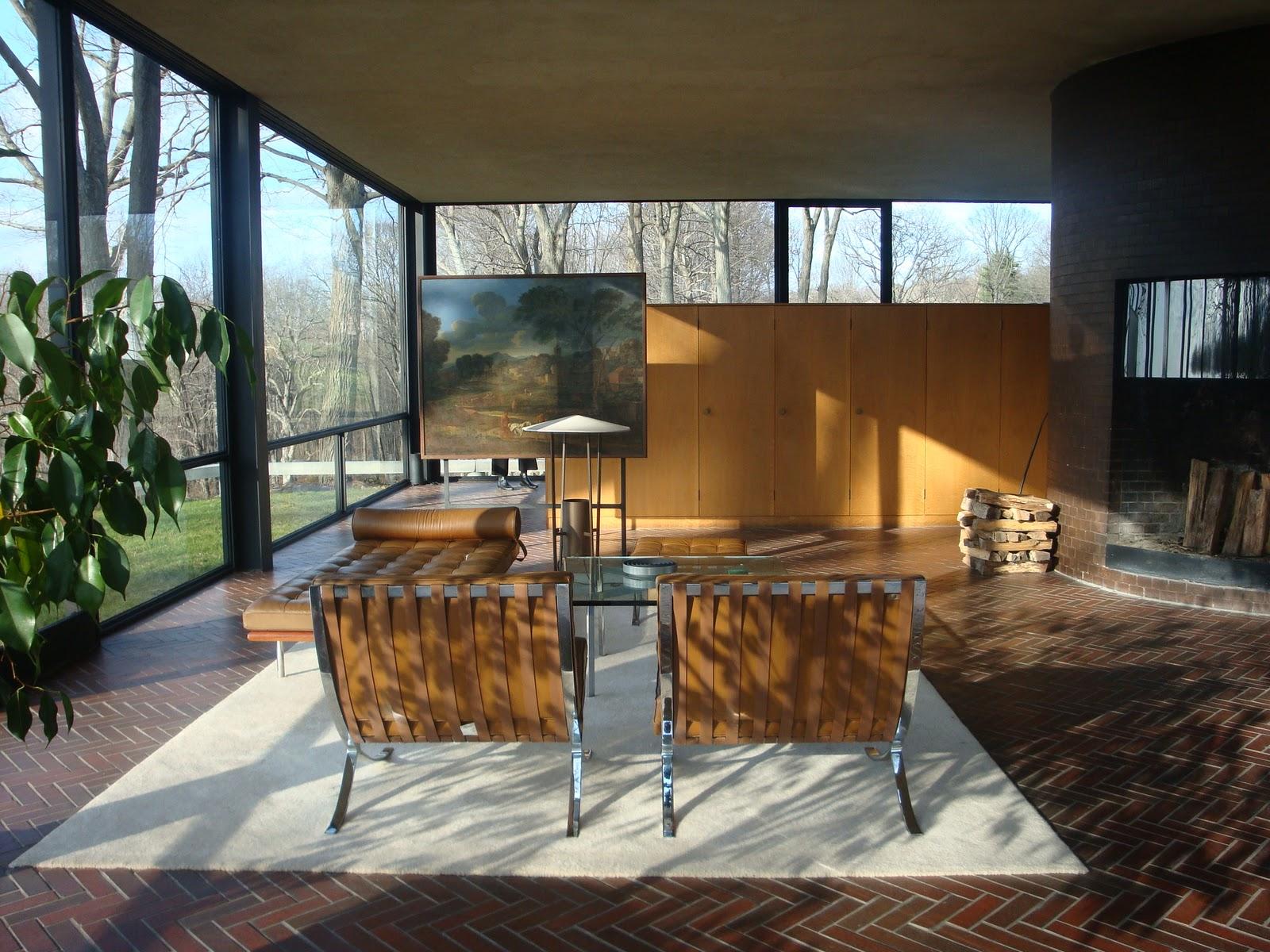 Interior of Philip Johnson Glass House