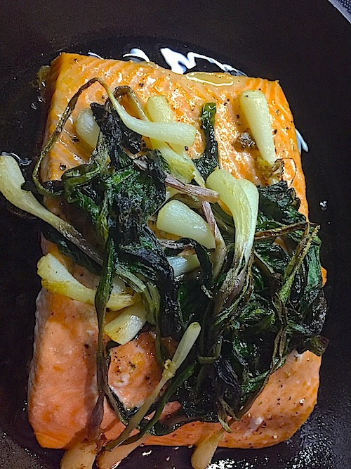 ramps and salmon kitchen